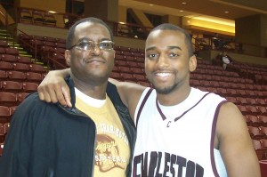 A Proud Dad! Marcus Hammond and his Dad after the game!