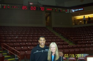 Andrew Goudelock with his Mental Coach Linda LeClaire